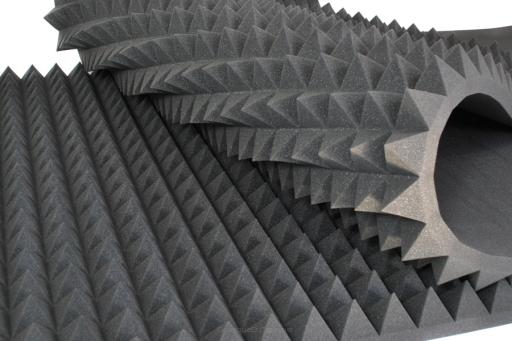 mousse acoustique pyramidale pro s364 md 90cm 45cm 6cm. Black Bedroom Furniture Sets. Home Design Ideas